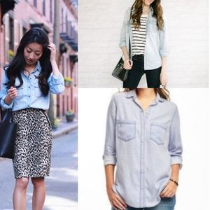 Light Chambray Tencil Button Down